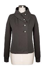 Lilla P French Terry Fold Over Collar