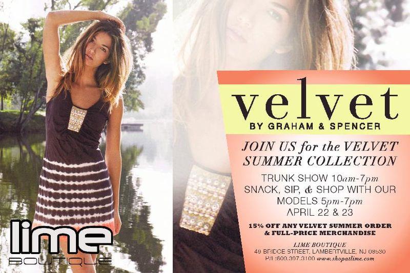 Velvet Trunk Show Invite