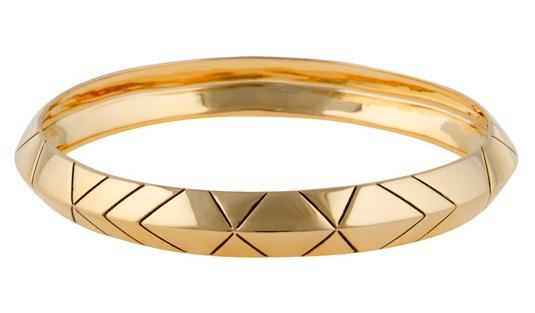 Gold Thick Stack Bangle