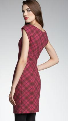 Nanette Lepore Leonara Plaid Dress Back
