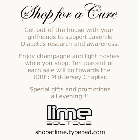 Shop for the Cure- JDRF Postcard Back