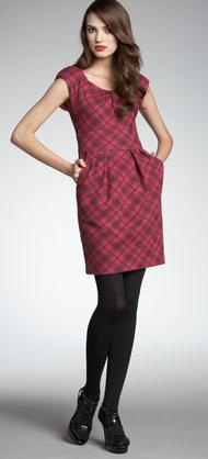 Nanette Lepore Leonara Plaid Dress