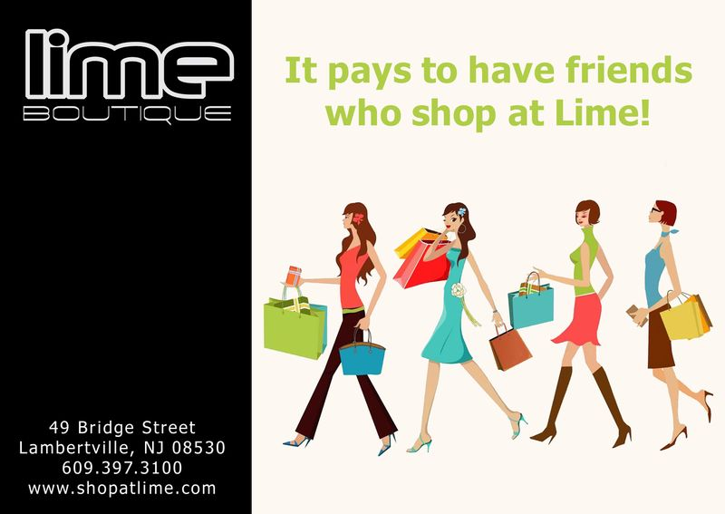Lime Referral Post Card Front
