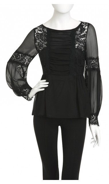 Luna top black
